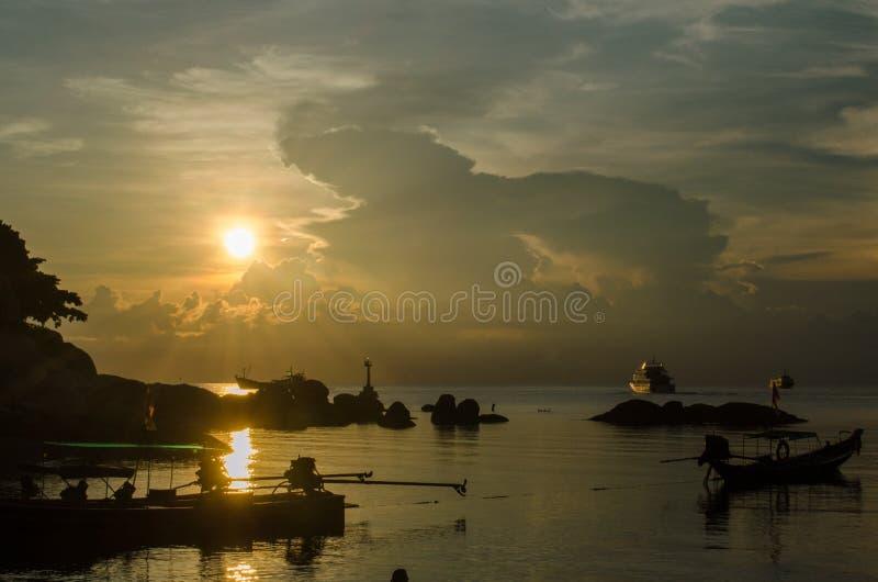 Koh Tao Sunset immagini stock