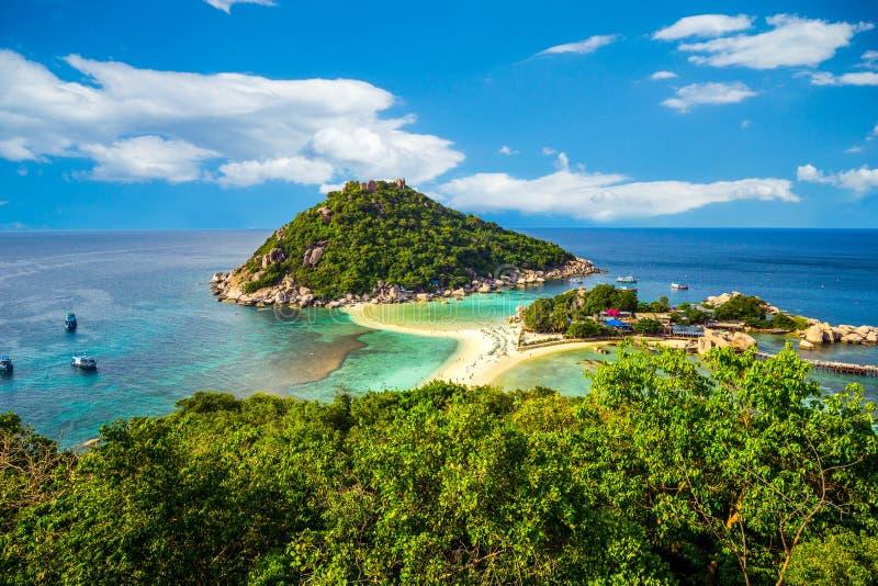 koh Tao Thailand piaskowaty plażowy ocean zdjęcia royalty free