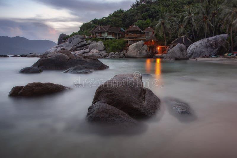 Koh Tao wyspy i piękni kamienie, Tajlandia zdjęcie royalty free
