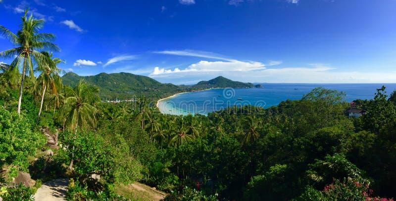 Koh Tao wyspy tropikalna panorama obraz stock