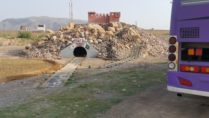 Kohat tunnel royaltyfri foto