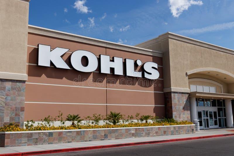 Kohl ` s Detailhandelplaats Kohl keurt de winst van Amazonië vrij van last II goed royalty-vrije stock foto