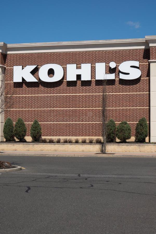 Kohl`s store located at Hamilton Marketplace. stock photo