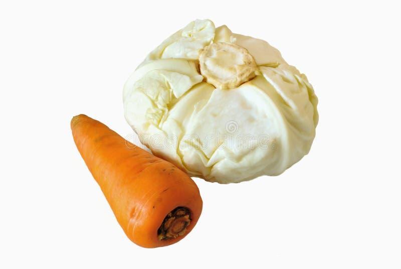 Kohl und Karotten lizenzfreies stockfoto