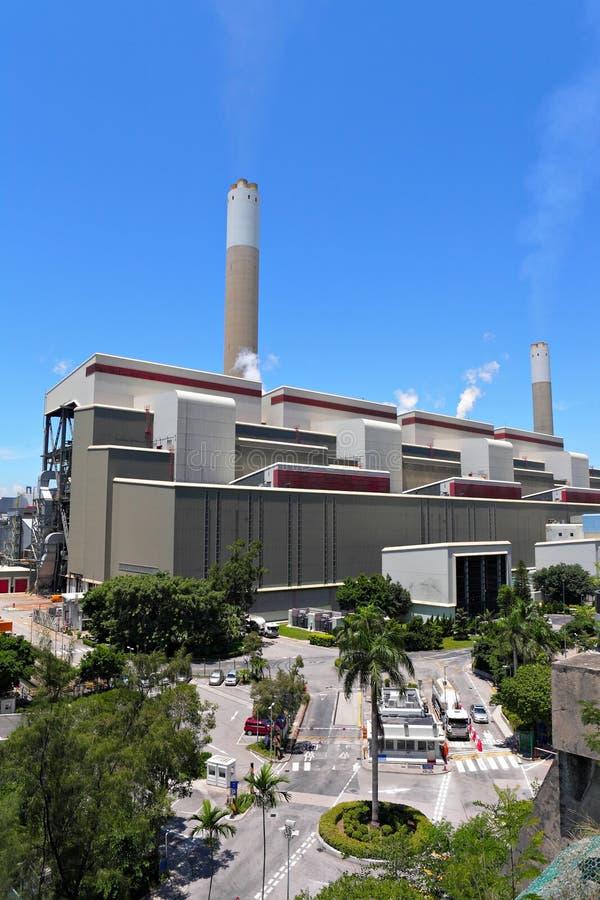 Kohle abgefeuerte Anlage des elektrischen Stroms stockfotografie