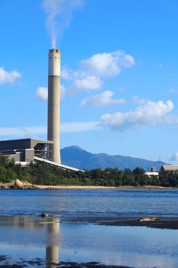 Kohle abgefeuertes Kraftwerk in Hong Kong stockfoto