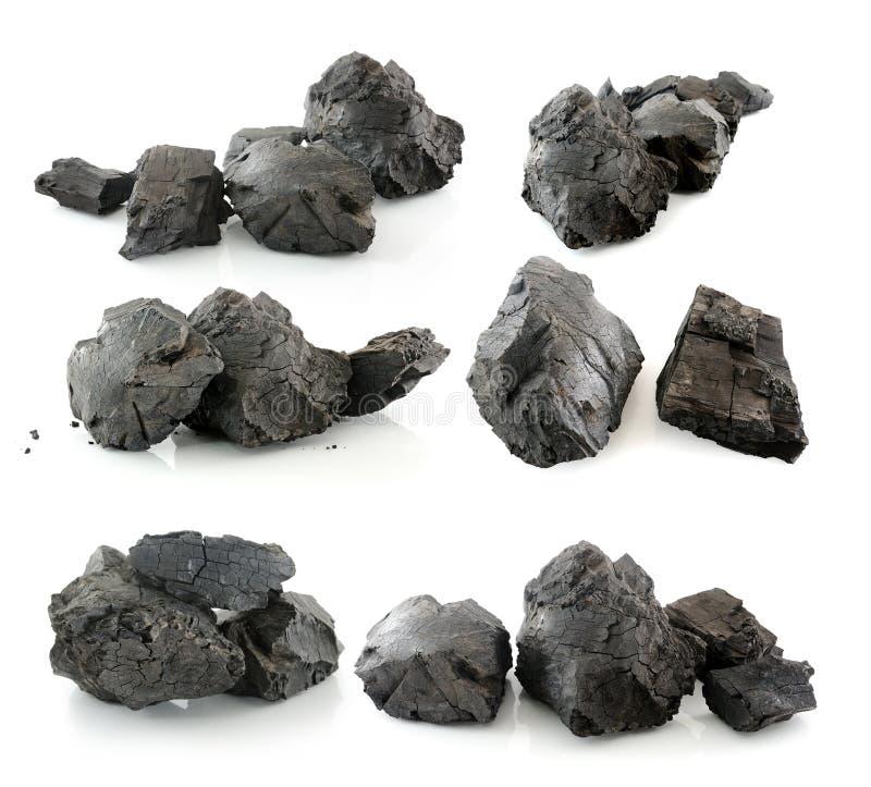 Kohle lokalisiert auf weißem Hintergrund stockfoto