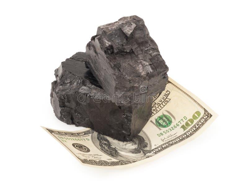 Kohle und Geld lizenzfreies stockbild