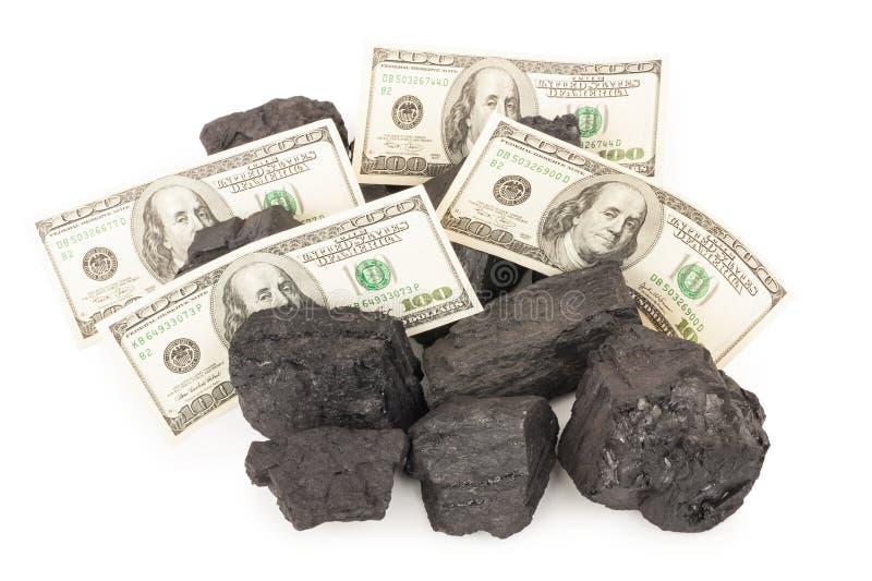 Kohle und Geld stockfotografie