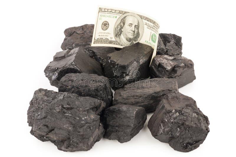Kohle und Geld stockfoto