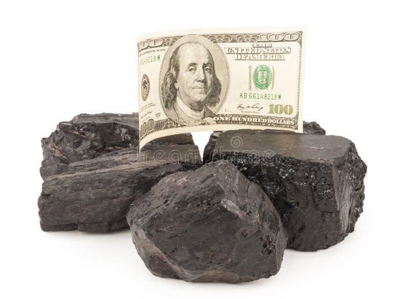 Kohle und Geld lizenzfreie stockfotos