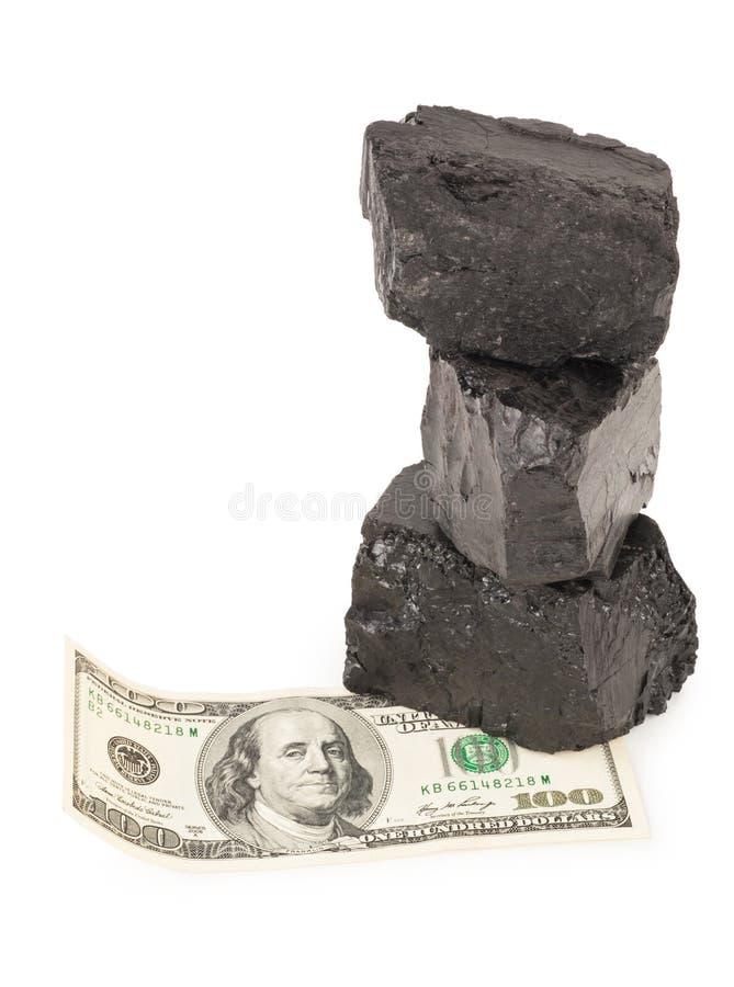 Kohle und Geld stockfotos