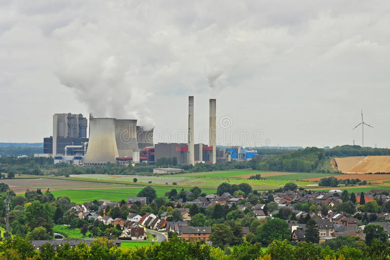 Kohleenergieanlage lizenzfreies stockfoto
