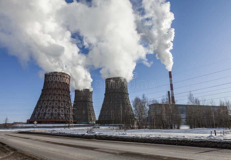 Kohleenergieanlage stockfoto