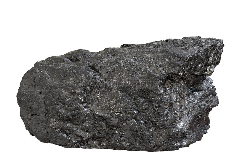 Kohlen-Anthrazitblock lizenzfreie stockbilder