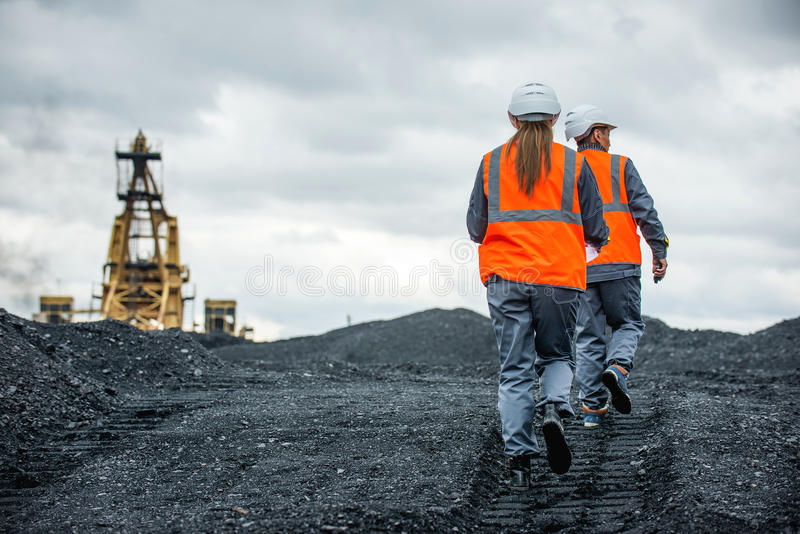 Kohlenarbeitskräfte stockfoto