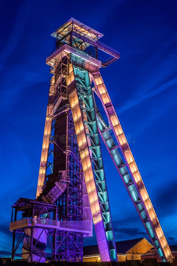 Kohlenbergwerk Winterslag in Genk, Belgien lizenzfreie stockfotografie