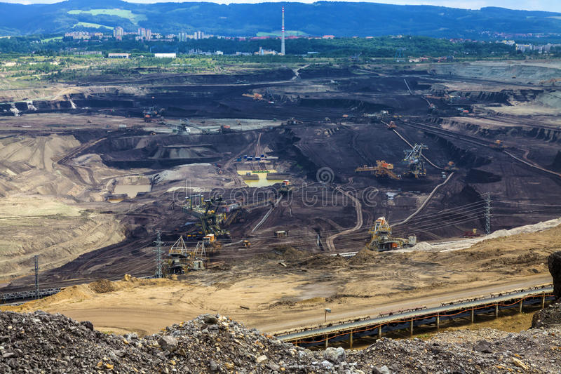 Kohlengrube, Sokolow, Tschechische Republik stockfotos