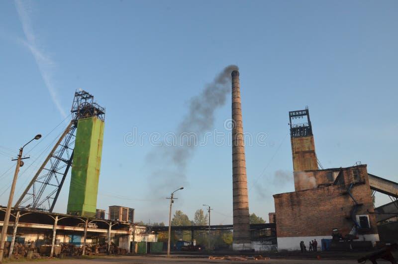 Kohlengrube in Ukraine lizenzfreie stockfotos