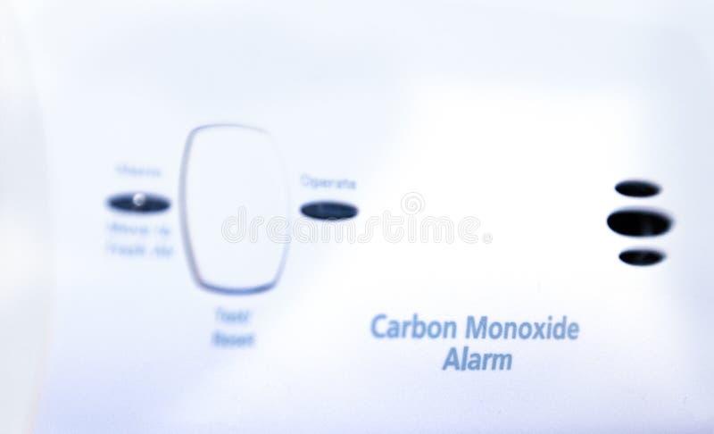 Kohlenmonoxidwarnung stockfoto