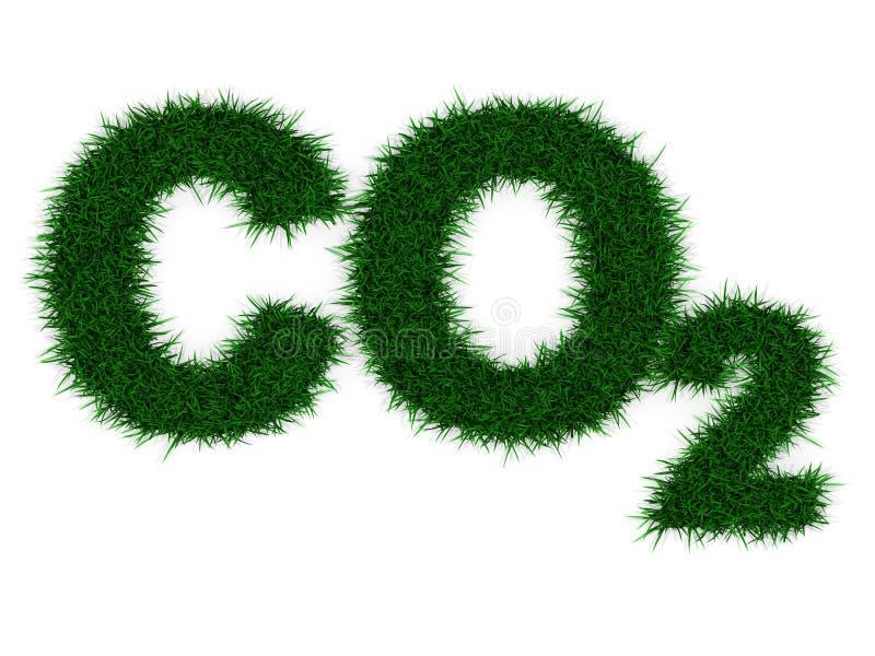 Kohlenstoff-Abdruck stock abbildung