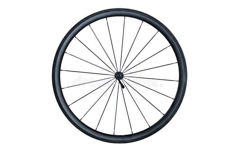 Kohlenstoff-Faser-Fahrradfelge stockbilder