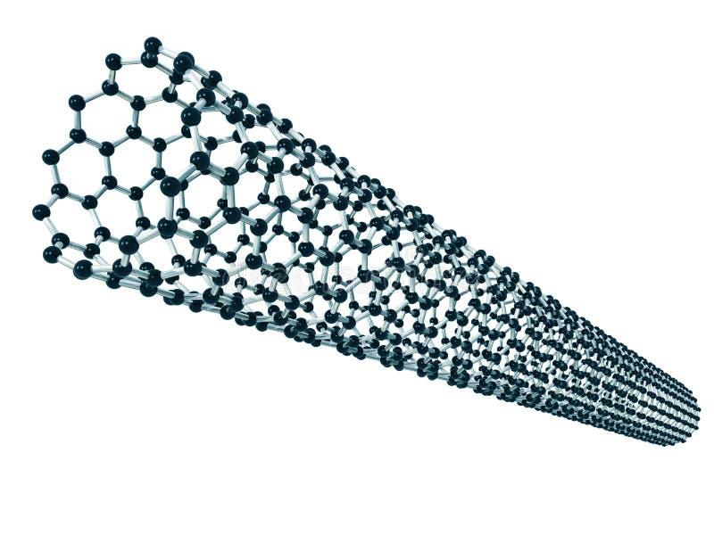 Kohlenstoff nanotube stock abbildung