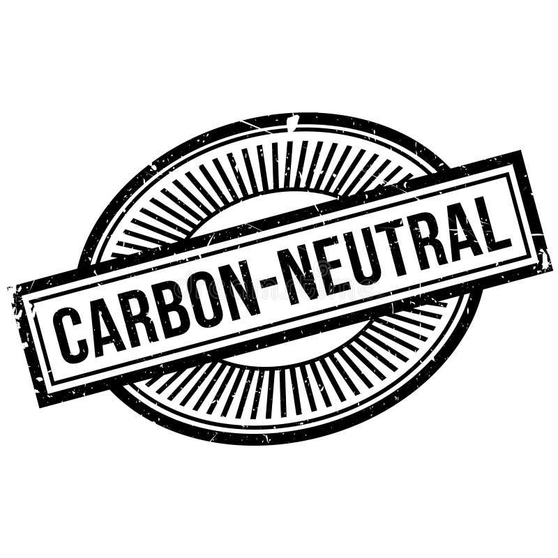 Kohlenstoff-neutraler Stempel stockbilder