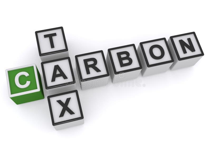 Kohlenstoffsteuer stock abbildung