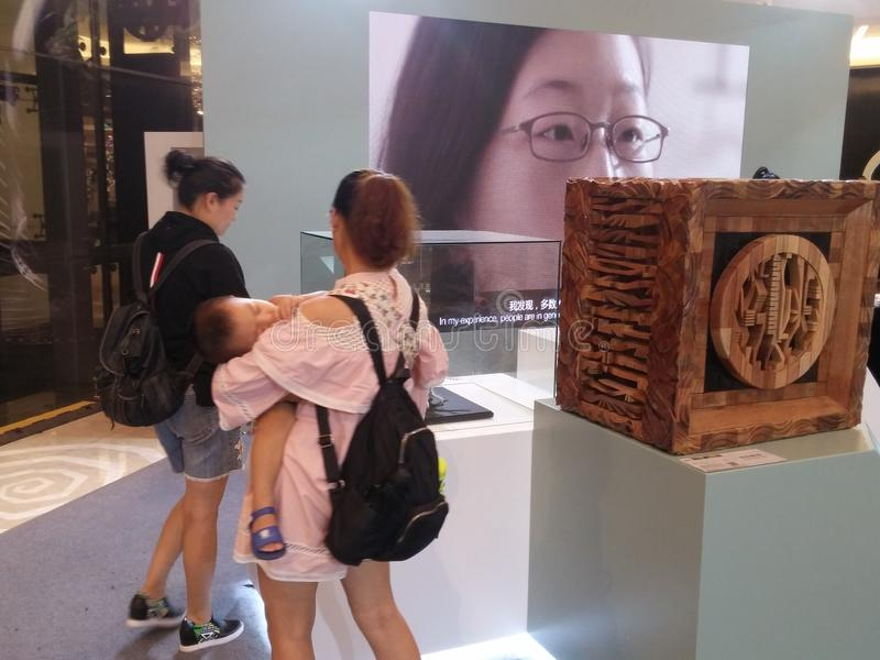 KOHLER asia-pacific art exhibition, held at yitian holiday plaza. In shenzhen, China. stock image