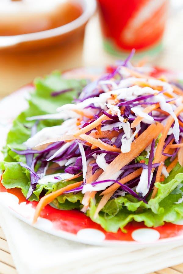 Kohlsalat mit Karotten lizenzfreie stockfotos