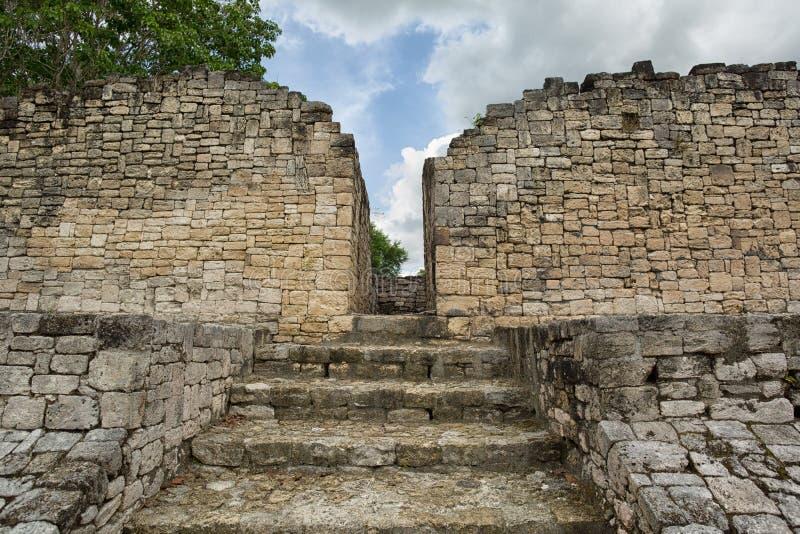 Kohunlich dans Quintana Roo Mexique images stock