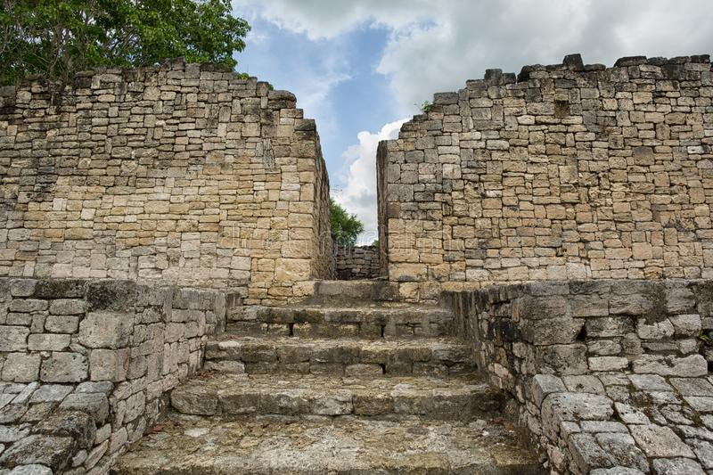 Kohunlich in Quintana Roo Mexico. Kohunlich maya archaeological site in Quintana Roo Mexico stock images
