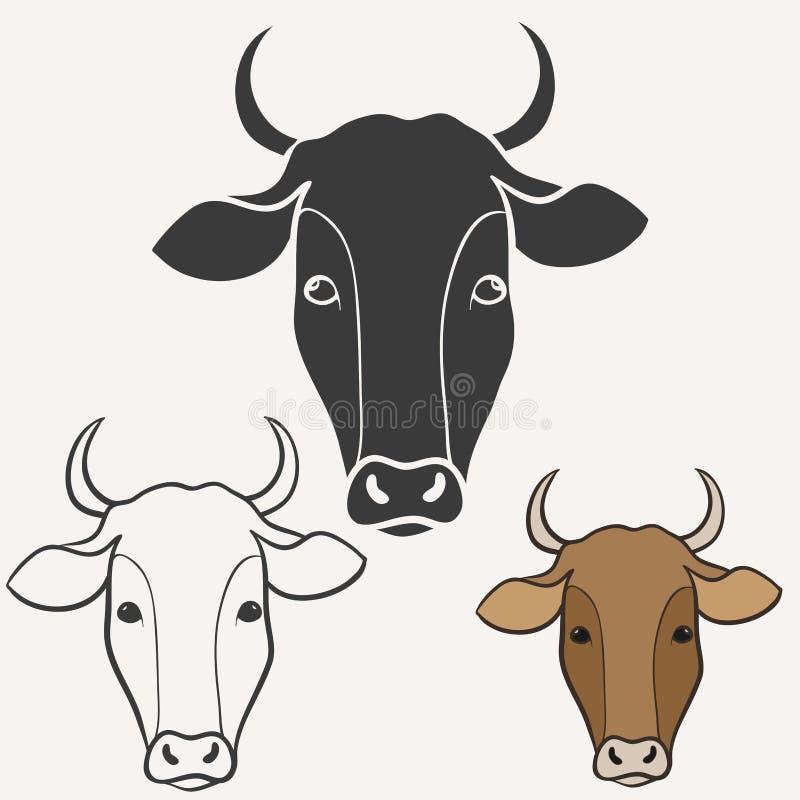 Kohuvud stock illustrationer