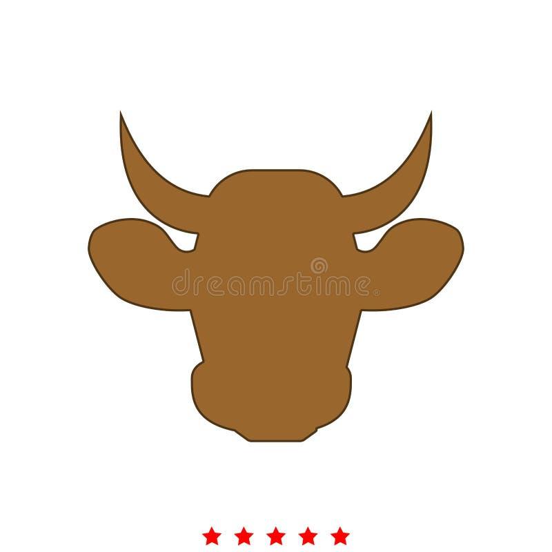Kohuvudet är det symbolen stock illustrationer