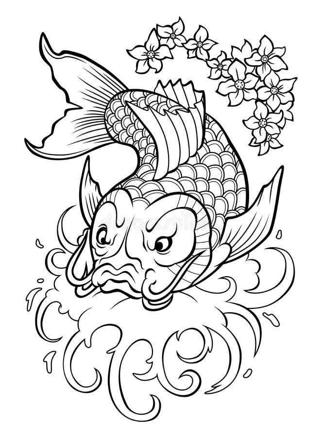 Koi Carp stock de ilustración