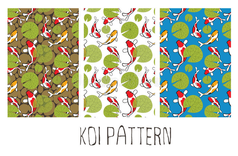 Koi Fish Pattern photographie stock