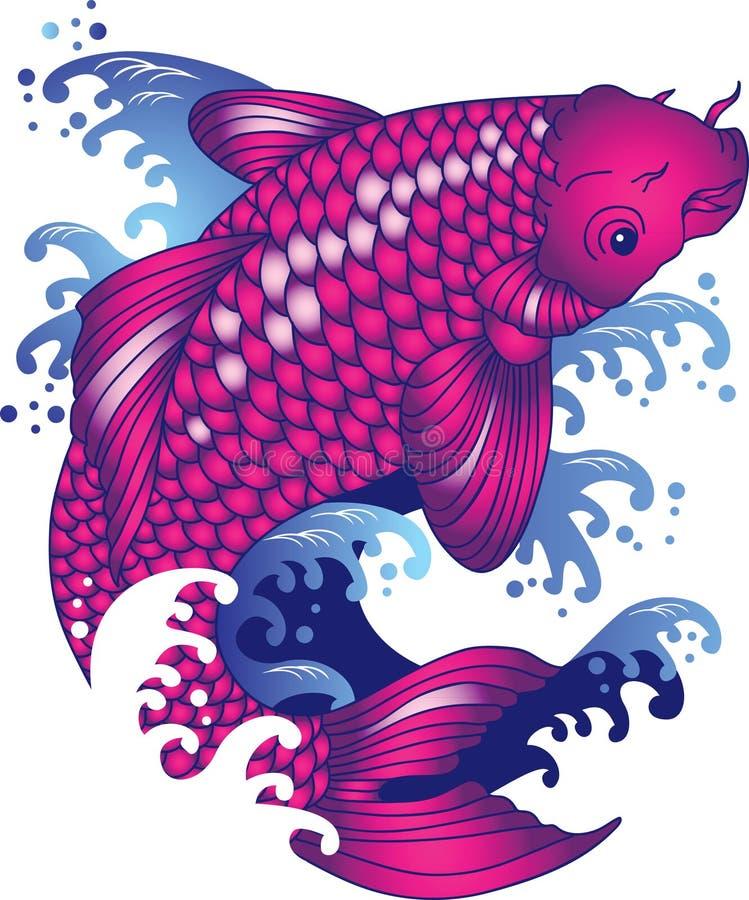 koi karpiowy tatuaż ilustracji