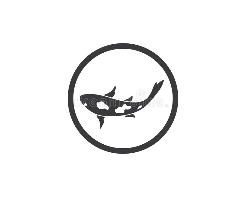 Koi ryba loga wektor ilustracja wektor