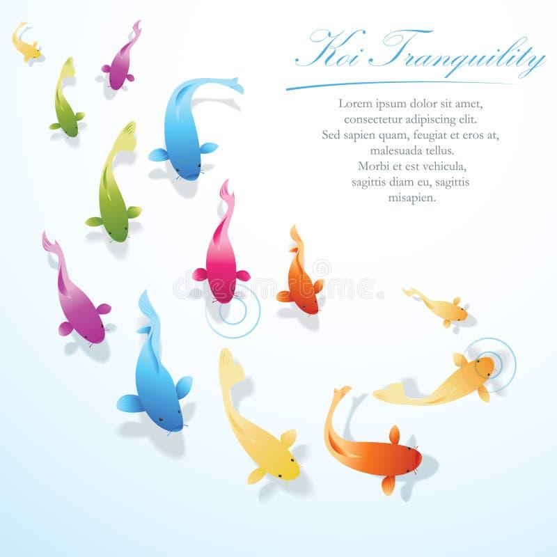 Koi ryba tło royalty ilustracja