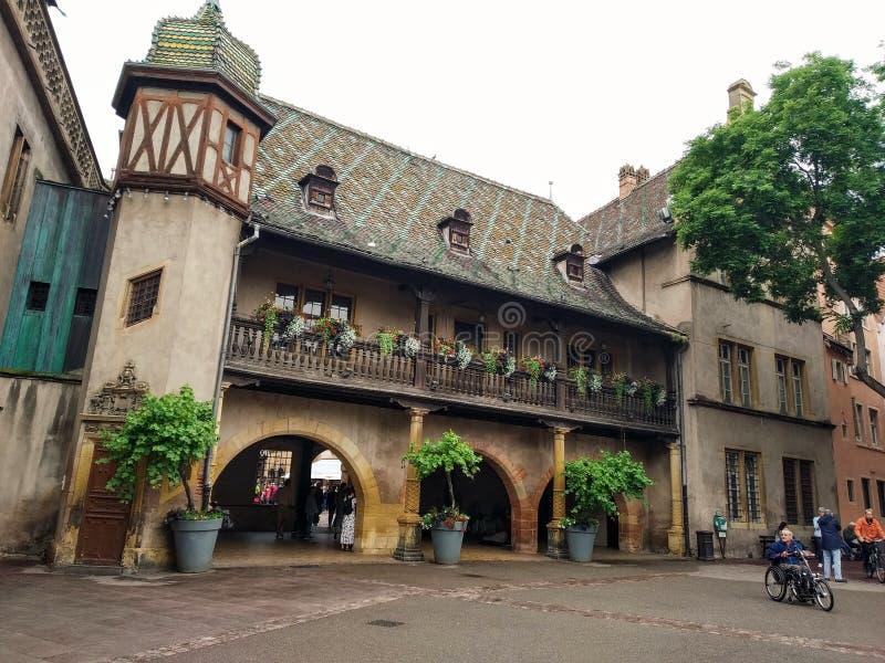 Koifhus, het oudste gebouw in Colmar stock fotografie
