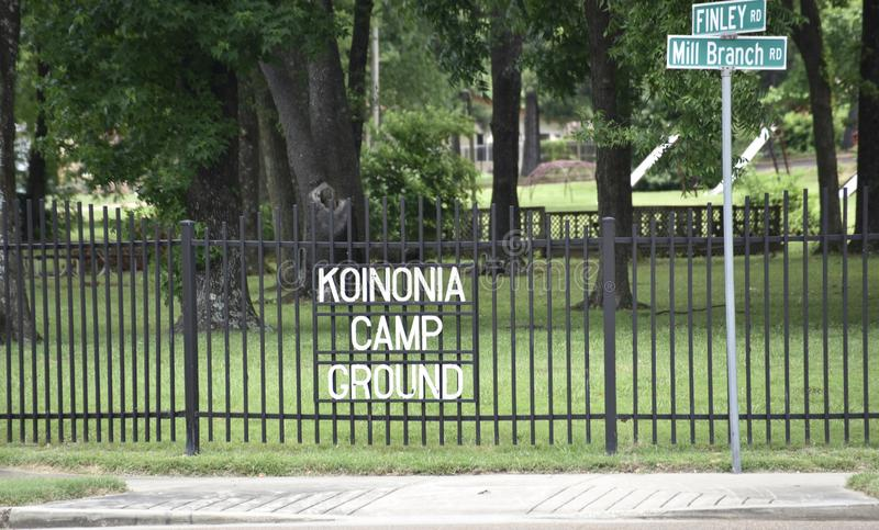 Koinonia Camp Ground, Memphis, Tennessee stock images