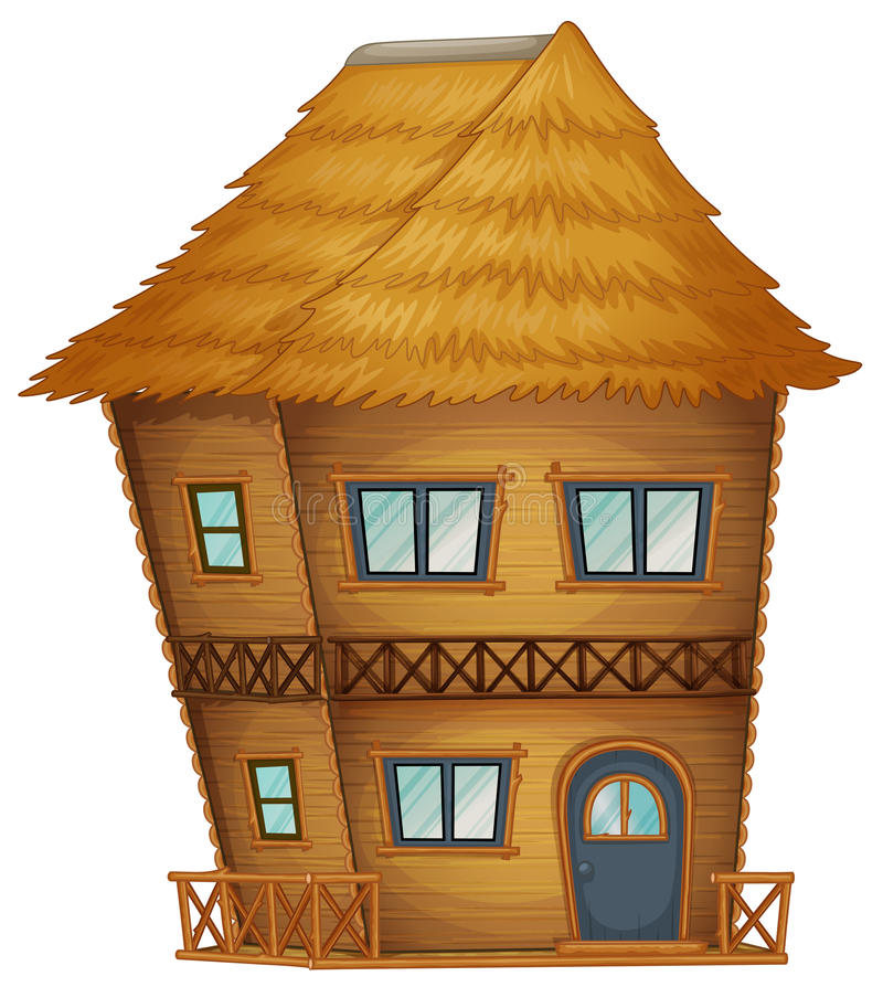 Download Koja För Två Berättelser Som Göras Av Bambu Vektor Illustrationer - Illustration av bana, utgångspunkt: 78732155