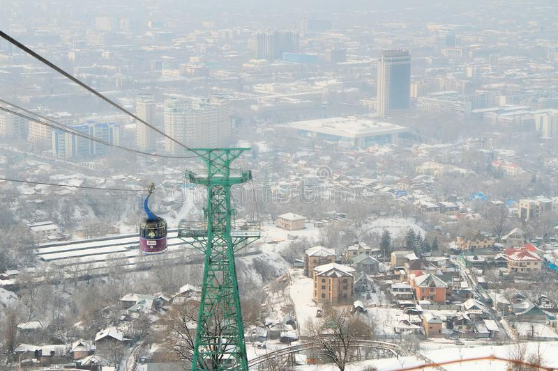Kok-tobe góra w Almaty, Kazachstan obraz royalty free