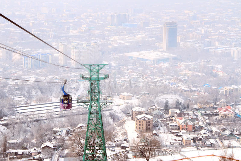 Kok-tobe góra w Almaty, Kazachstan fotografia stock