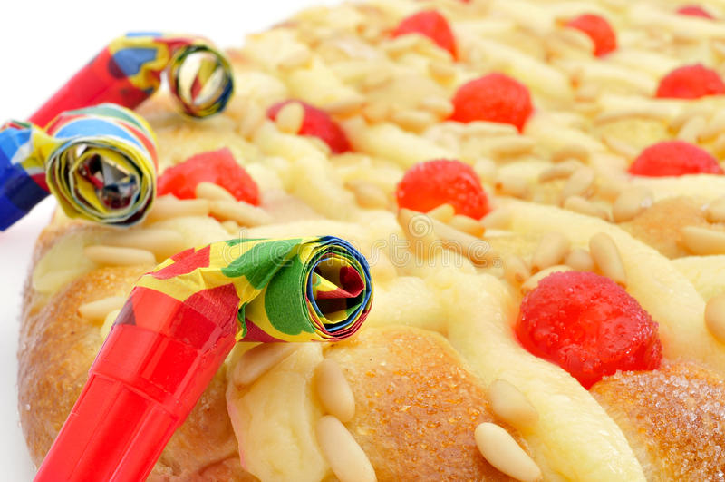 Koka De Sant Joan, typowy słodki mieszkanie tort od Catalonia, Hiszpania zdjęcia stock