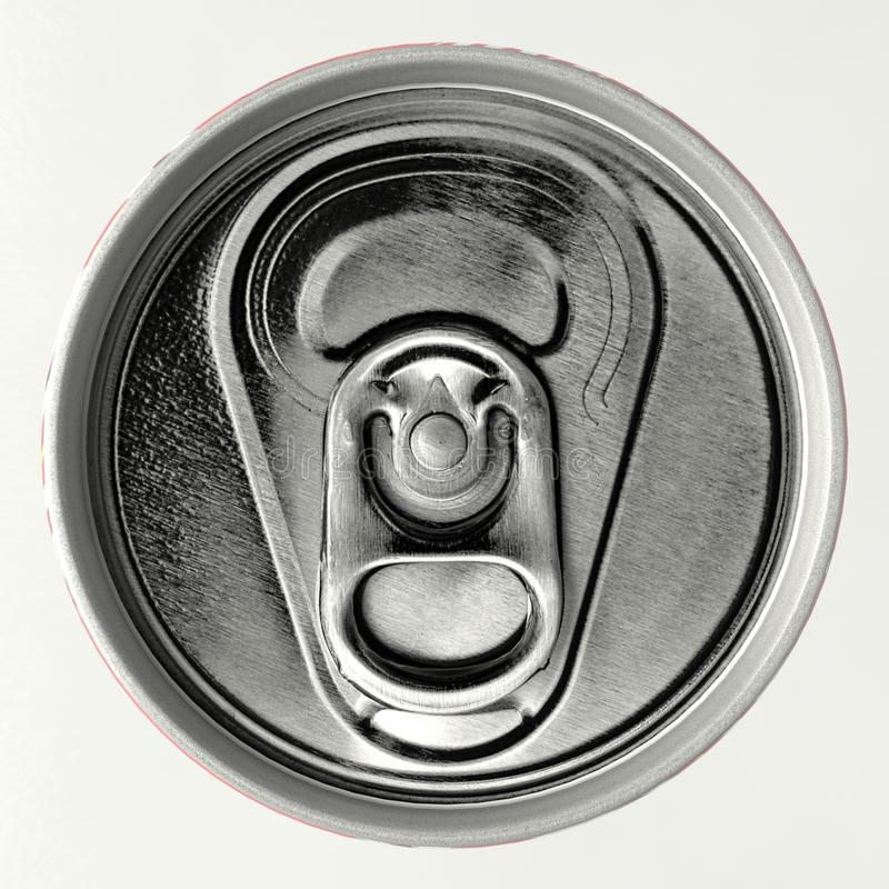 Koka-kola aluminium popielata puszka fotografia royalty free