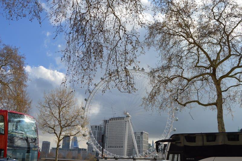 Koka-kola London oka milenium koło zdjęcia stock