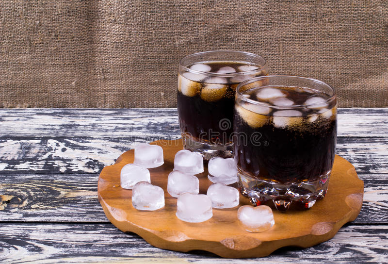 koka-kola napój dalej obrazy stock