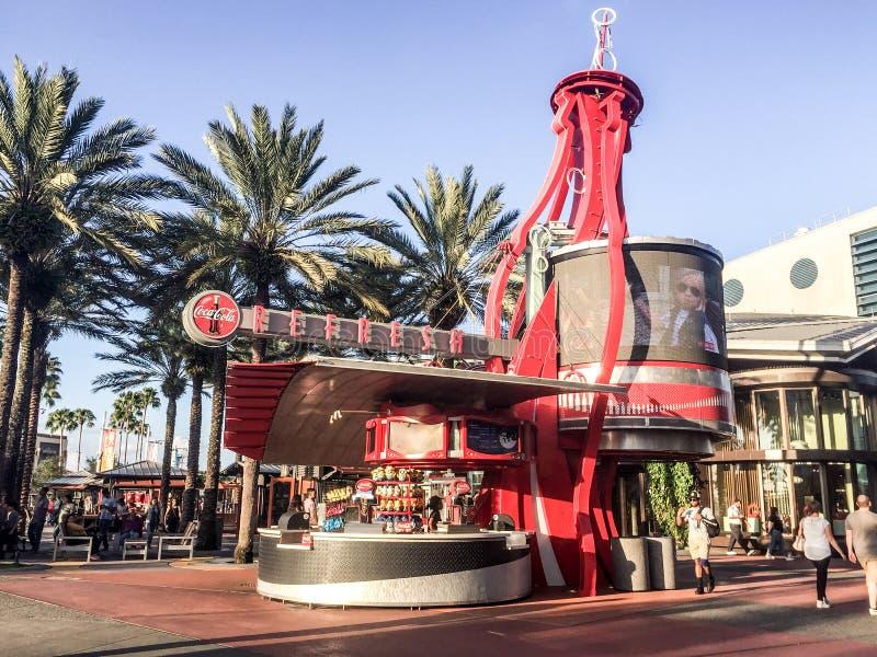 Koka-kola stojak przy Ogólnoludzkim miasto spacerem, Orlando, Floryda obraz royalty free